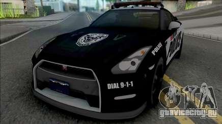 Nissan GT-R Black Edition Police для GTA San Andreas