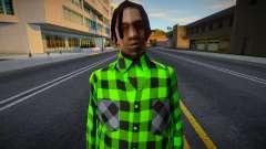 FAM2 в клетчатой рубашке для GTA San Andreas