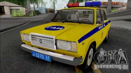 ВАЗ-2107 ГАИ Самарская Область для GTA San Andreas