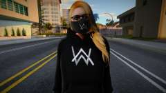 GTA Online Female Outher Style Alan Walker 2 для GTA San Andreas