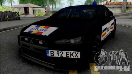 Mitsubishi Lancer Evolution X Politia Romana для GTA San Andreas