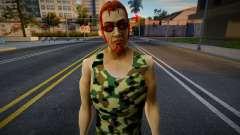 Postal Dude в камуфляжной майке 1 для GTA San Andreas