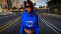 Lara Croft Fashion Casual - Los Santos Tuners 2 для GTA San Andreas